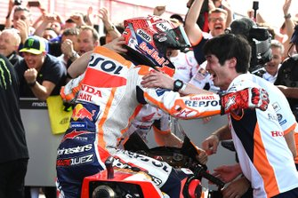 Race winner Marc Marquez, Repsol Honda Team celebrates in parc ferme