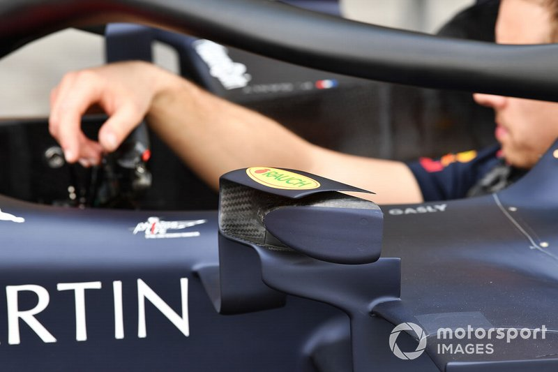 Mirror details on the Red Bull Racing RB15