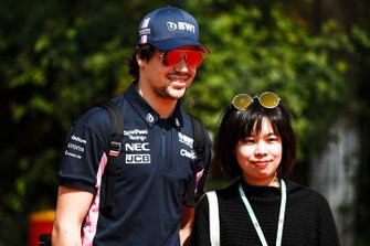 Lance Stroll, Racing Point with a fan