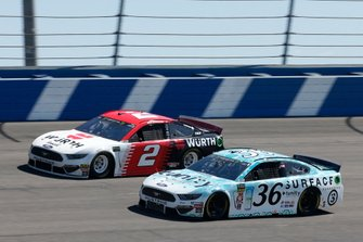 Matt Tifft, Front Row Motorsports, Ford Mustang Surface Sunscreen / Tunity Brad Keselowski, Team Penske, Ford Mustang Wurth