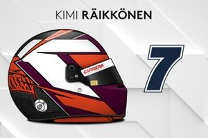 El casco 2019 de Kimi Räikkönen