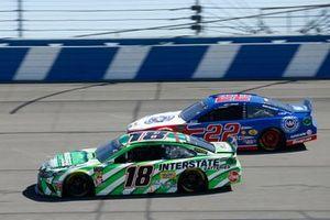 Kyle Busch, Joe Gibbs Racing, Toyota Camry Interstate Batteries Joey Logano, Team Penske, Ford Mustang AAA Southern California