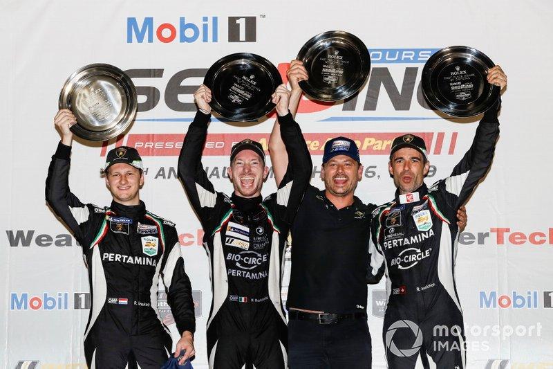 Podio: #11 GRT Grasser Racing Team Lamborghini Huracan GT3, GTD: Mirko Bortolotti, Rik Breukers, Rolf Ineichen