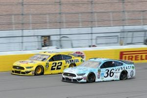 Joey Logano, Team Penske, Ford Mustang Pennzoil Matt Tifft, Front Row Motorsports, Ford Mustang Surface Sunscreen / Tunity