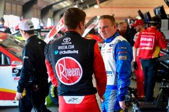 Christopher Bell, Joe Gibbs Racing, Toyota Supra Rheem, Cole Custer, Stewart-Haas Racing, Ford Mustang Thompson Pipe/Haas CNC