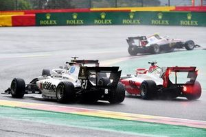 Roman Stanek, Hitech Grand Prix, a Red Bull car, Lorenzo Colombo, Campos Racing and Dennis Hauger, Prema Racing