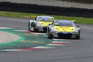 #14 Audi Sport Italia, Audi R8 LMS GT3 Evo: Daniel Mancinelli, Vito Postiglione e #12 Audi Sport Italia, Audi R8 LMS GT3 Evo: Lorenzo Ferrari, Riccardo Agostini