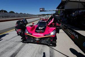 #60: Meyer Shank Racing w/Curb-Agajanian Acura DPi, DPi: Olivier Pla, Dane Cameron, pit stop, crew members