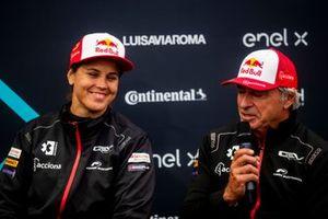 Laia Sanz, Carlos Sainz, Sainz XE Team, 3rd position, in the Press Conference