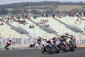 Michael van der Mark, BMW Motorrad WorldSBK Team, Andrea Locatelli, PATA Yamaha WorldSBK Team, Chaz Davies, Team GoEleven