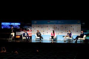Alejandro Agag, CEO, Formula E, Mayor of Rome Virginia Raggi at the Press Conference