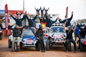 #201 Racing Wings Volkswagen: Emmanuel Eggermont, Edouard De Braekeleer, #204 Racing Wings Volkswagen: Benoit Callewaert, Ghislain Morel