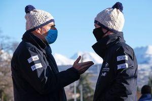 Andrea Adamo, Team principal Hyundai Motorsport, Martijn Wydaeghe, Hyundai Motorsport