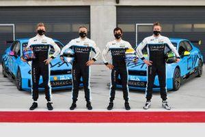 Yann Ehrlacher, Yvan Muller, Santiago Urrutia, Thed Bjork, Cyan Racing Lynk & Co