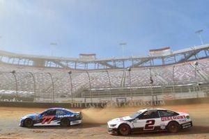 Stewart Friesen, Spire Motorsports, Chevrolet Camaro Halmar International, Brad Keselowski, Team Penske, Ford Mustang Discount Tire