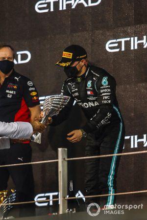 Valtteri Bottas, Mercedes-AMG F1, 2nd position, on the podium