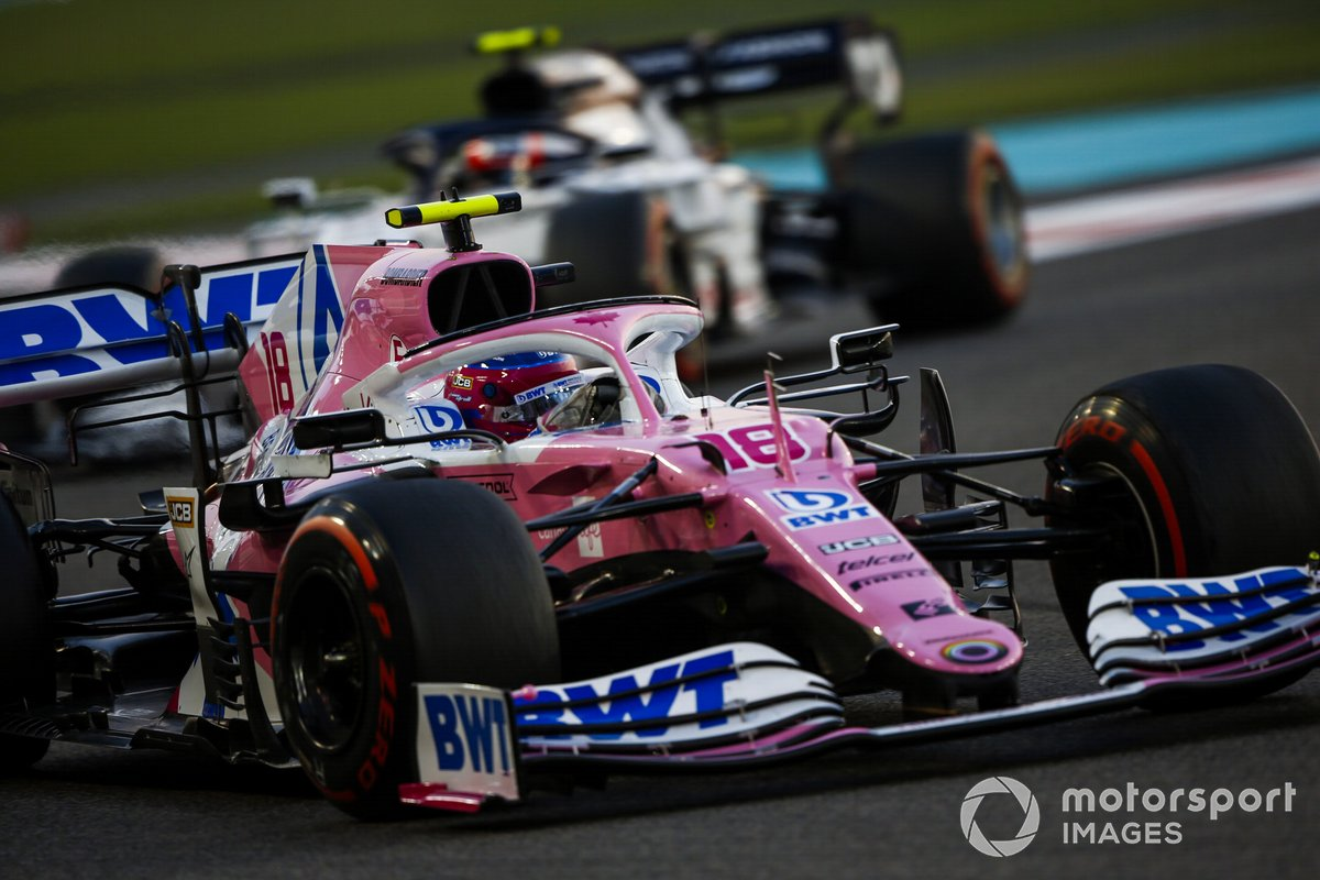Lance Stroll, Racing Point RP20 Pierre Gasly, AlphaTauri AT01