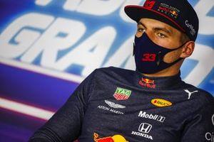 Le vainqueur Max Verstappen, Red Bull Racing, en conférence de presse