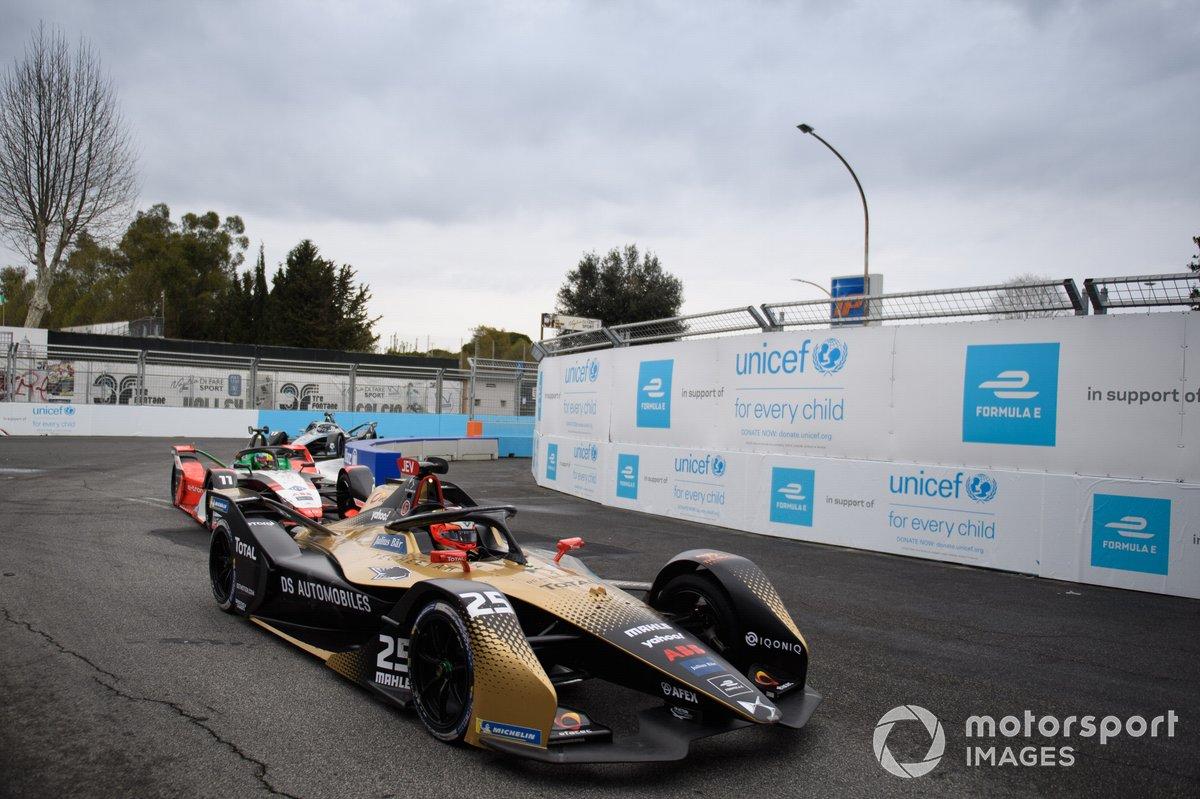 Jean-Eric Vergne, DS Techeetah, DS E-Tense FE21, Lucas Di Grassi, Audi Sport ABT Schaeffler, Audi e-tron FE07