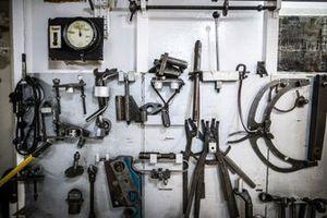 Tools on the St Helena logistics ship