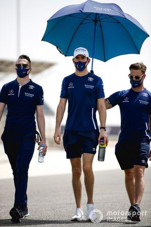 Nicholas Latifi, Williams walks the track