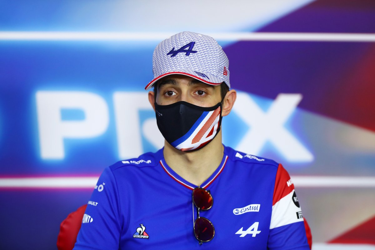 Esteban Ocon, Alpine F1, en la conferencia de prensa