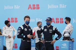 Oliver Turvey, NIO 333, Tom Blomqvist, NIO 333, are interviewed after Qualifying