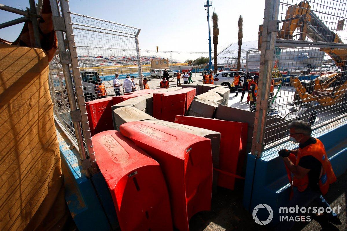 Barreras de seguridad en Ad Diriyah