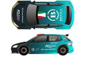 Alberto Battistolli, Simone Scattolin, ACI Team Italia, Škoda Fabia Rally2 Evo