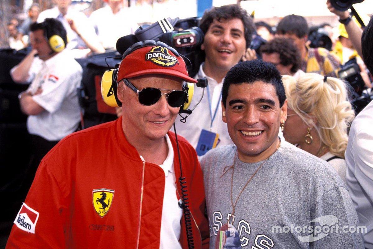 Diego Maradona y Niki Lauda