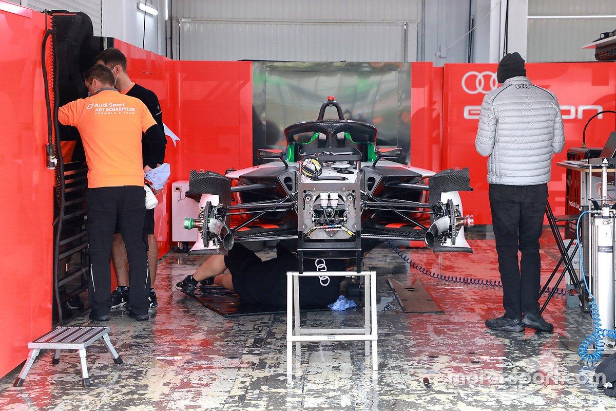 Audi Sport ABT Schaeffler Formula E Team garage