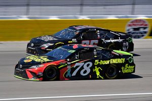 Martin Truex Jr., Furniture Row Racing, Toyota Camry 5-hour ENERGY and Jeffrey Earnhardt, Gaunt Brothers Racing, Toyota Camry American Soldier Network / Xtreme Concepts