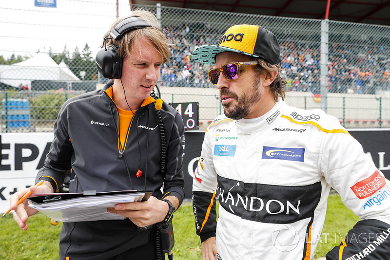 Fernando Alonso, McLaren, na polach startowych
