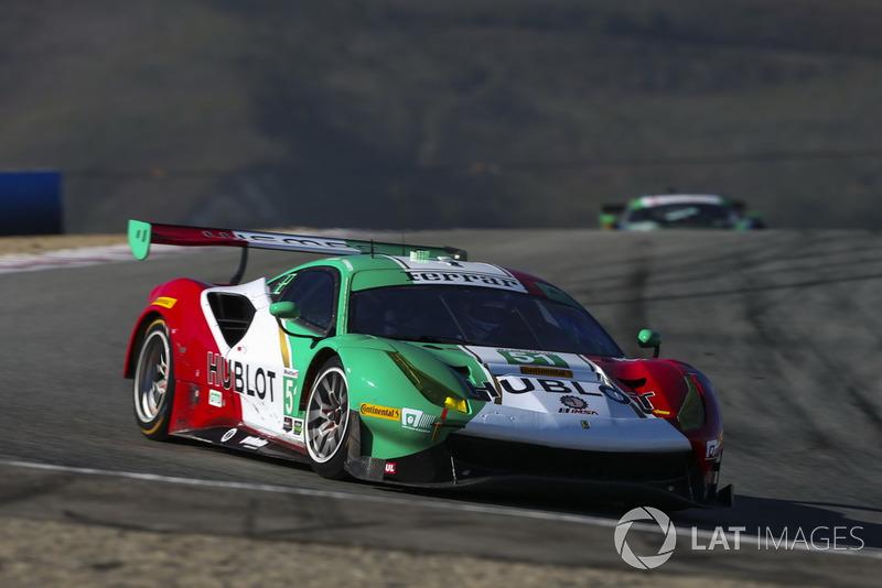 #51 Squadra Corse Garage Italia Ferrari 488 GT3, GTD: Francesco Piovanetti, Oswaldo Negri Jr.