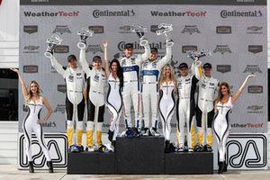 #4 Corvette Racing Chevrolet Corvette C7.R, GTLM - Oliver Gavin, Tommy Milner, #67 Chip Ganassi Racing Ford GT, GTLM - Ryan Briscoe, Richard Westbrook, #3 Corvette Racing Chevrolet Corvette C7.R, GTLM - Antonio Garcia, Jan Magnussen, podium