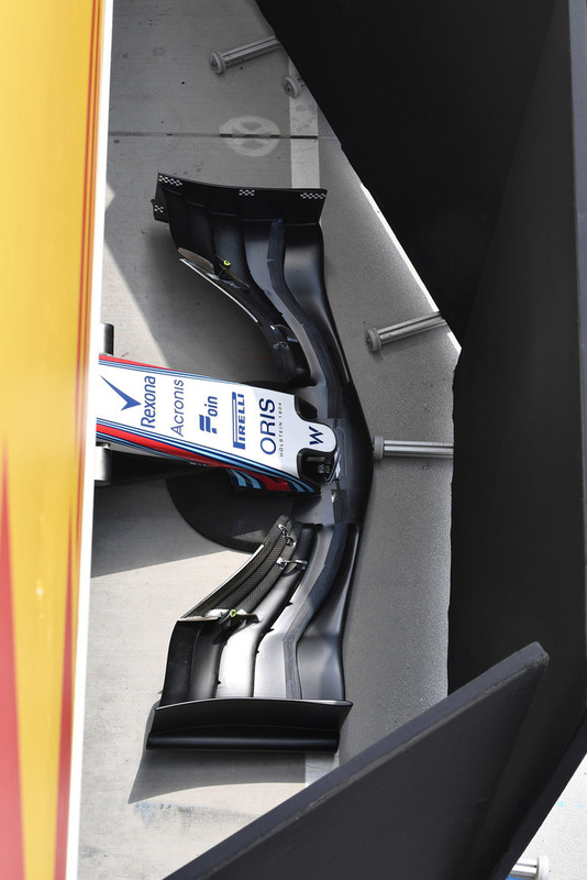 Nez et aileron avant de la Williams FW41