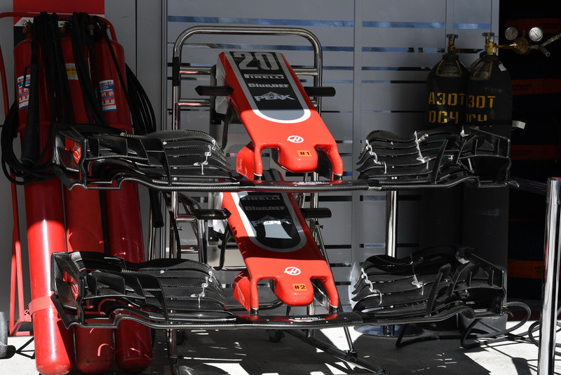 Haas F1 Team VF-18 nose and front wings