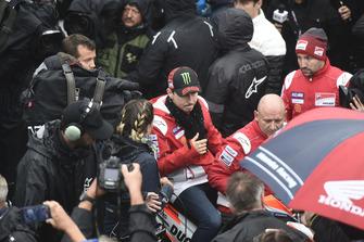 Jorge Lorenzo, Ducati Team, quitte la réunion de la Commission de sécurité