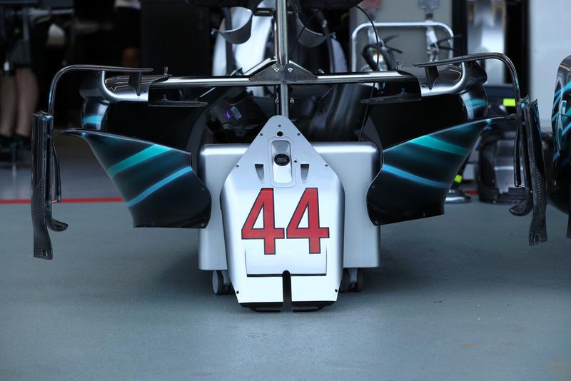 Dettaglio della Mercedes AMG F1 W09 di Lewis Hamilton