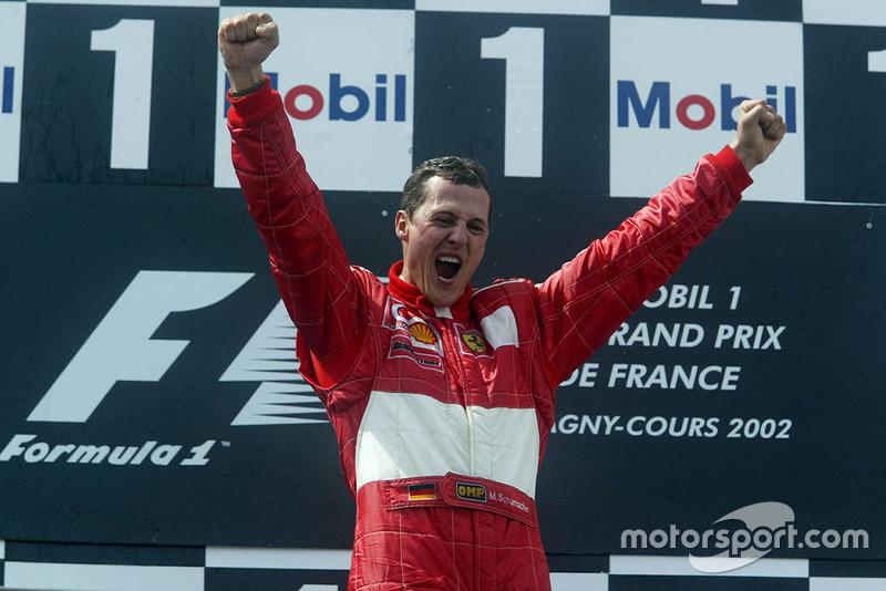 En los años de sus seis primeros mundiales, Schumacher logró...