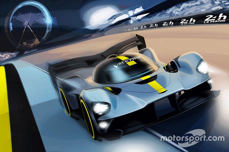 Rendering Aston Martin Valkyrie hypercar