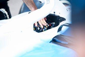 Williams Racing FW42 cockpit and steering wheel