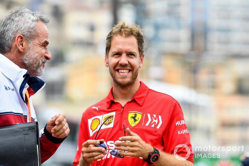 Sebastian Vettel, Ferrari e Beat Zehnder, Alfa Romeo Racing