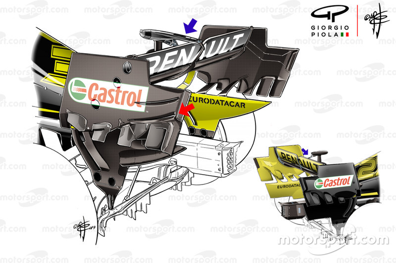 Asas traseiras do Renault F1 Team R.S.19