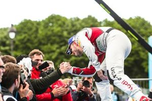 Daniel Abt, Audi Sport ABT Schaeffler, 3rd position, celebrates with a team member