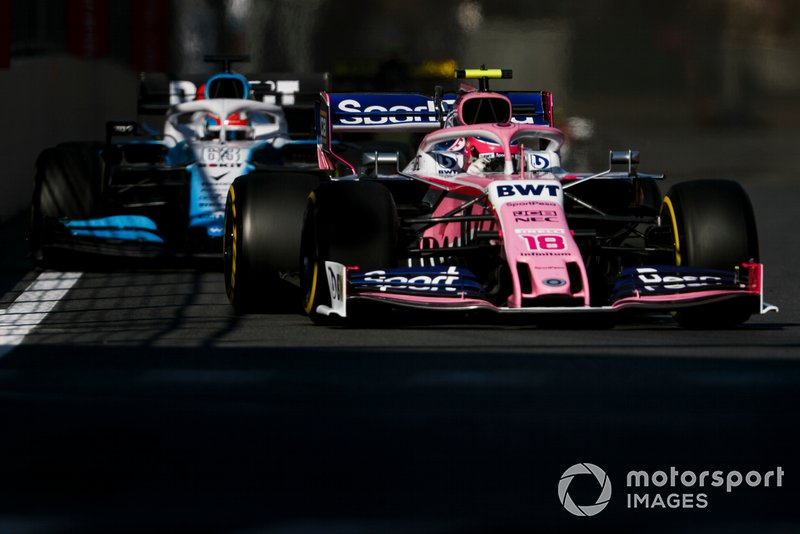 Lance Stroll, Racing Point RP19, George Russell, Williams Racing FW42