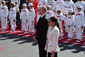 Presidente de Azerbaiyán, Ilham Aliyev con su esposa Mehriban Aliyeva.