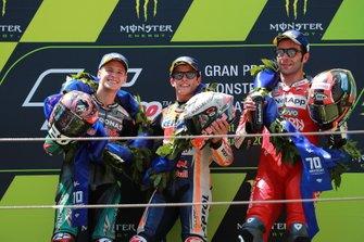 Фабио Куартараро, Petronas Yamaha SRT, Марк Маркес, Repsol Honda Team, и Данило Петруччи, Ducati Team