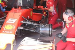 Sebastian Vettel, Ferrari, Ferrari SF90 front brake detail