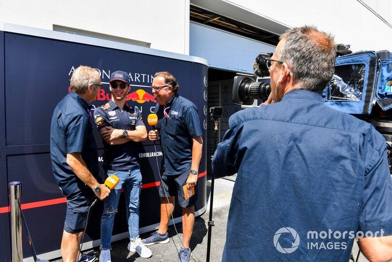 Pierre Gasly, Red Bull Racing, parle à la presse